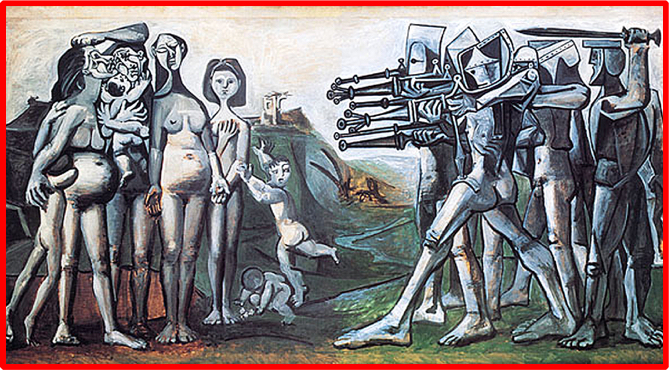 Picasso_Army_against_Woman