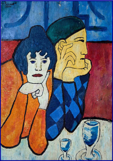 Picasso_Couple_Thinking_and_Drinking