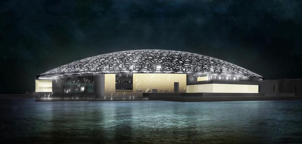 at night louvre abou dhabi
