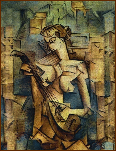 Picasso_Woman_Playing_Mandelline