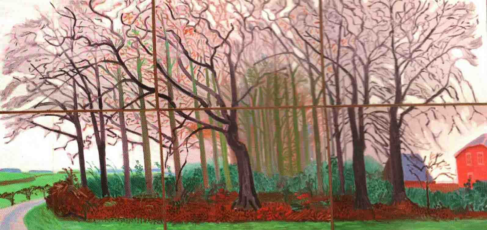 David Hockney Six Part Study for Bigger Trees 2007