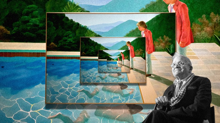 Portrayed of an Artist David Hockney
