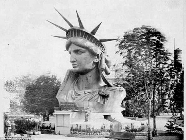 Statue of Liberty Bust Vintage Photo