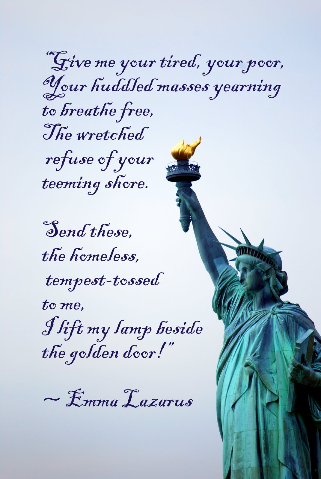 new colossus poem w statue