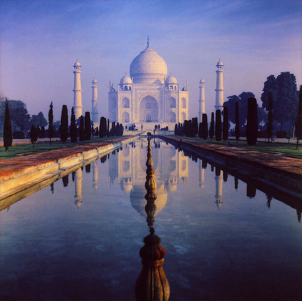 The Taj Mahal the burial place of Shah Jahan and his wife Mumtaz Mahal
