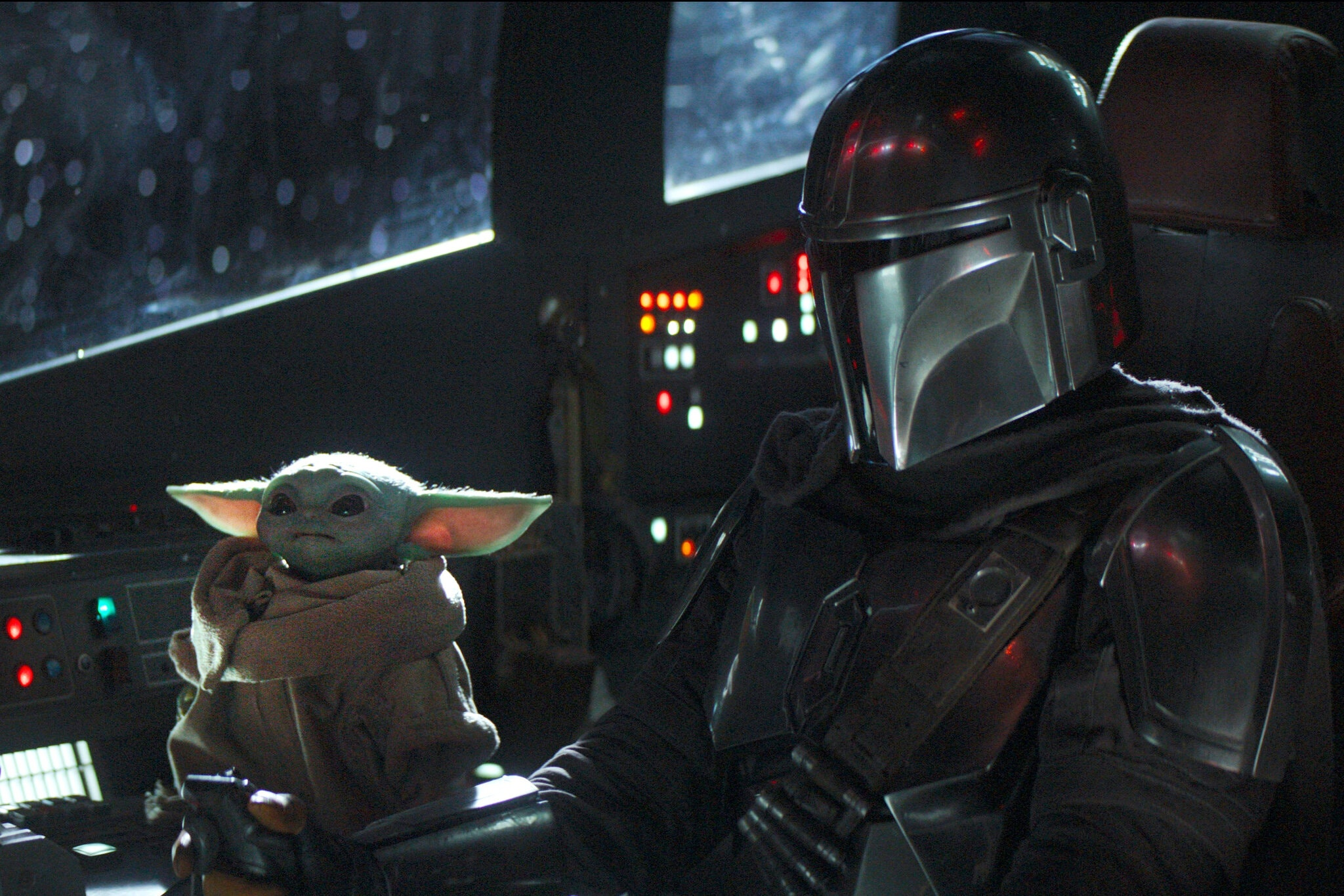 A scene from The Mandalorian on Disney