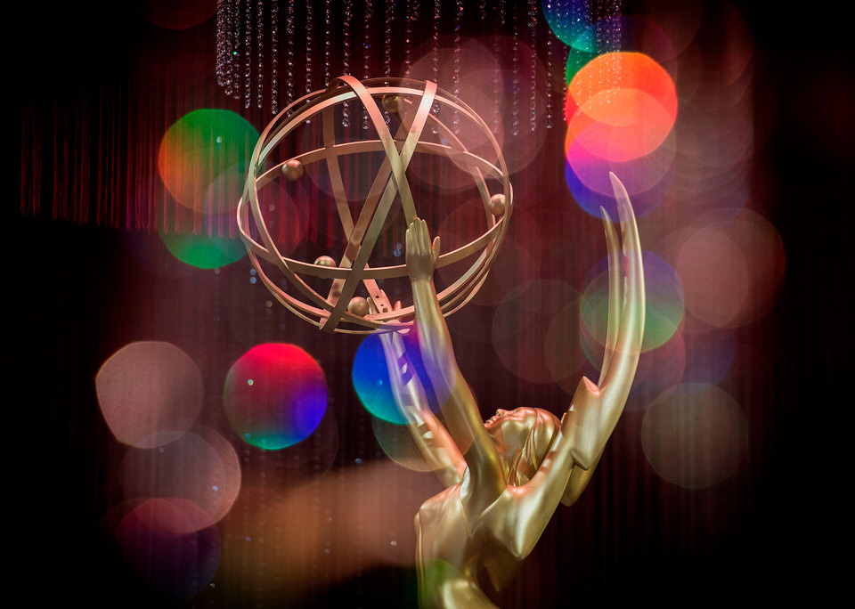 emmys award statue with colors 1