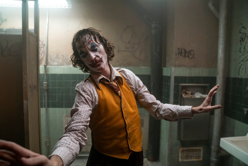 Joaquin Phoenix in a scene from Joker.