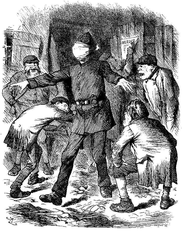 Blind Man Buff Punch Cartoon September 22 1888