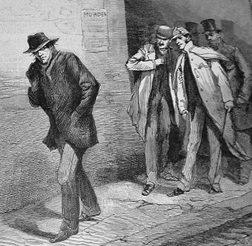 Drawin of murderer Jack the Ripper London Illustrated October 13 1888