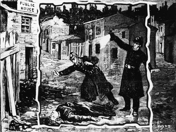 Police Discovering One of Jack the Ripper victims