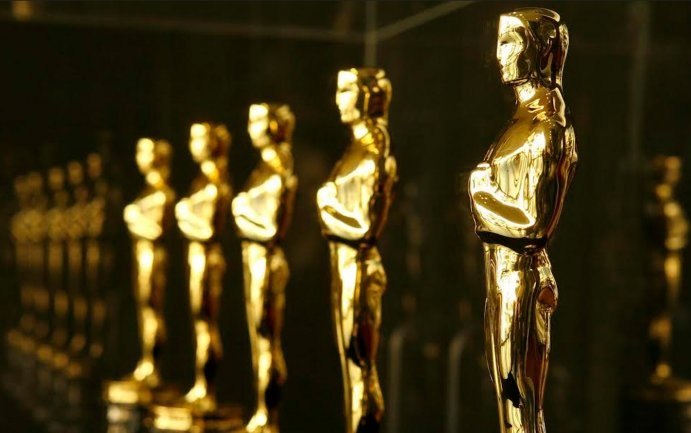 angle shot of several Oscars