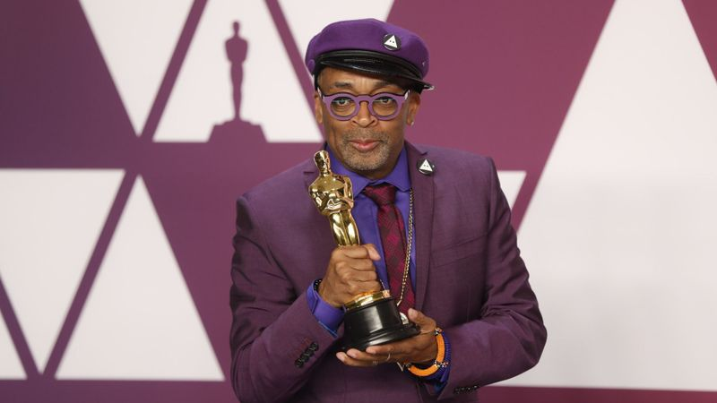Spike Lee with Oscar