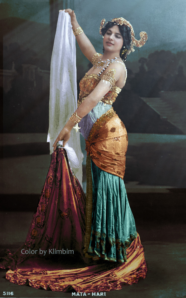 1905 1917 mata hari the stage name of margarete geertruida zelle macleod 1876 1917 colorized