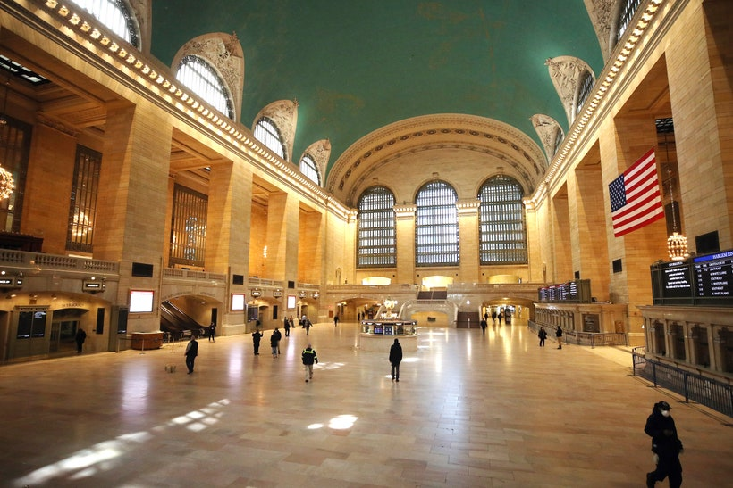 Grand Central new york city quarantine GettyImages 1216467166
