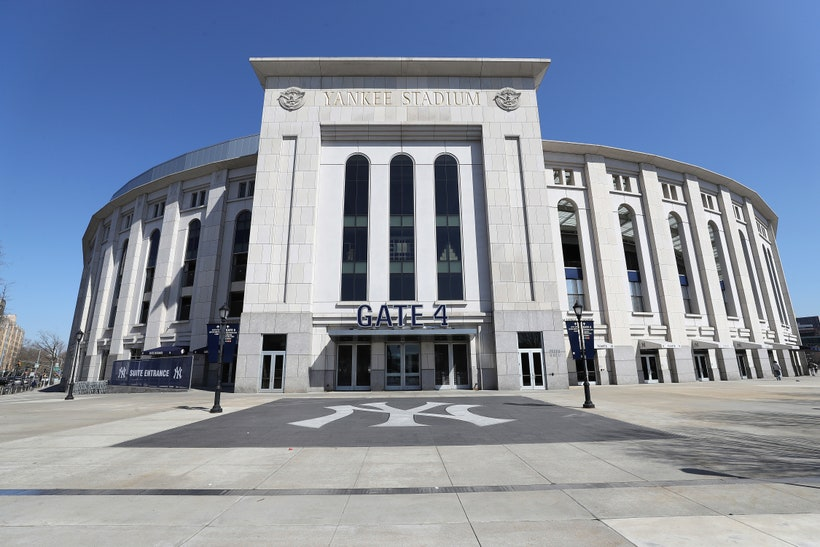 Yankee Stadium new york quarantine GettyImages 1215000302