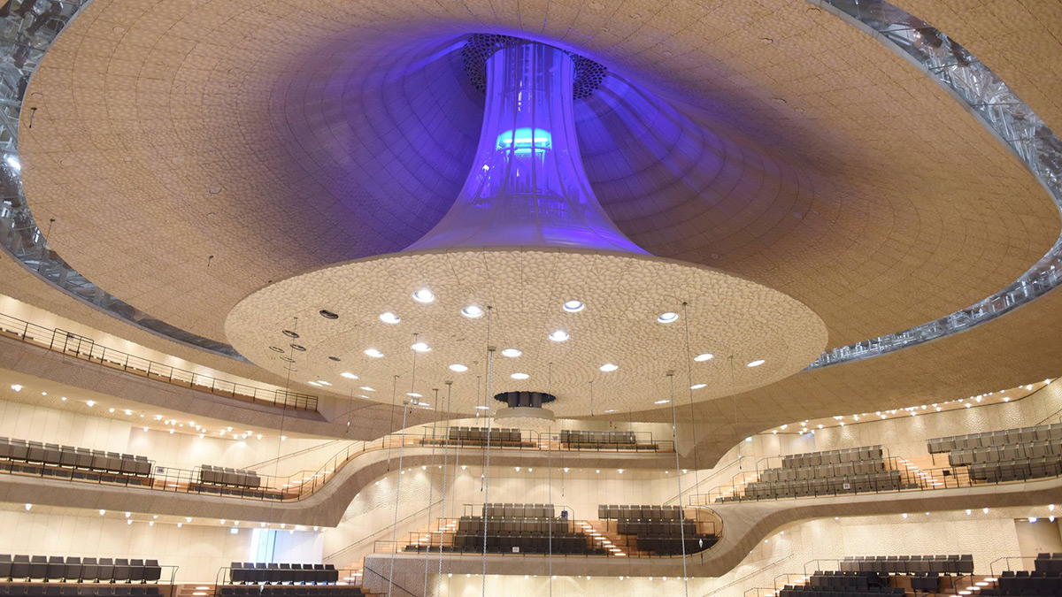 Elphilharmonie Concert Hall interior photography Michael Zapf