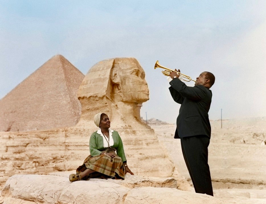Louis Armstrong w Wife in Cairo 1961