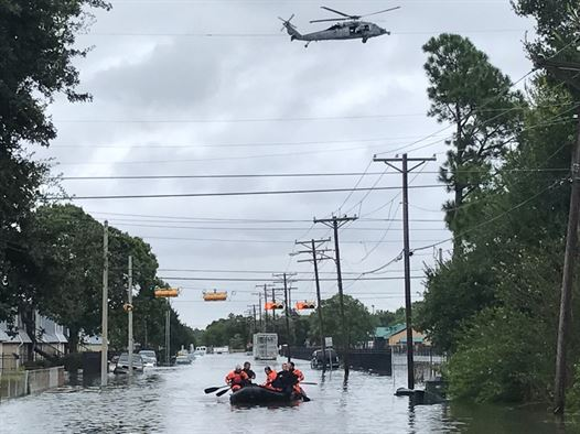 boat and helicopter rescue