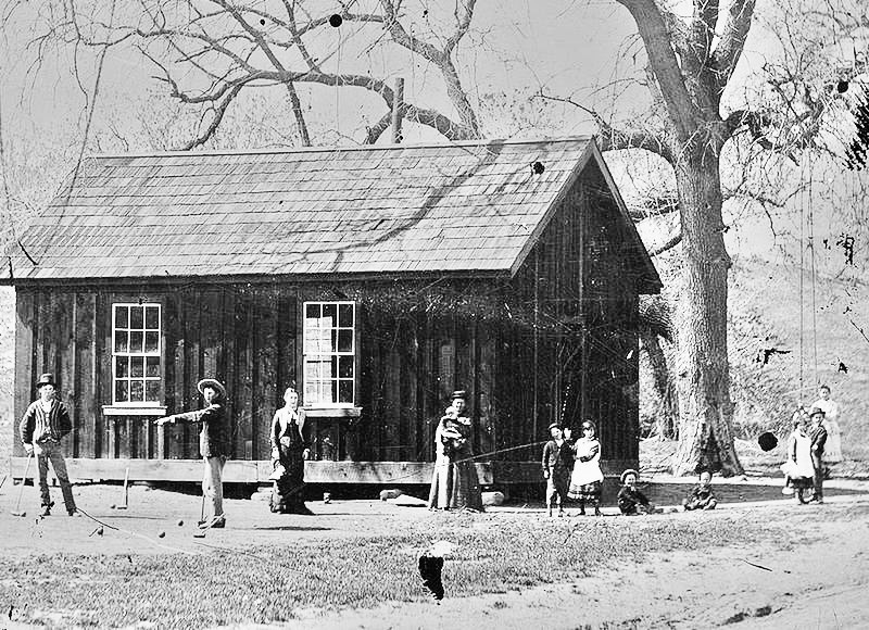 Billy the Kid and his gang the Regulators playing croquet in New Mexico in 1878