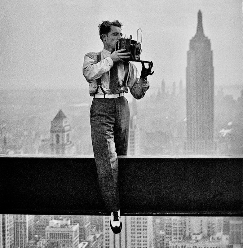 Photographer Charles Clyde Ebbets at work in the 1930s
