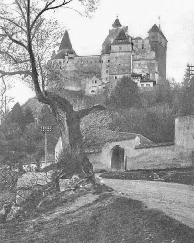 The imposing Bran Castle or more commonly known as Draculas Castle in Romania 1920