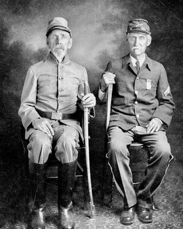 These brothers from West Virginia fought on different sides of the Civil War. Both survived 1910