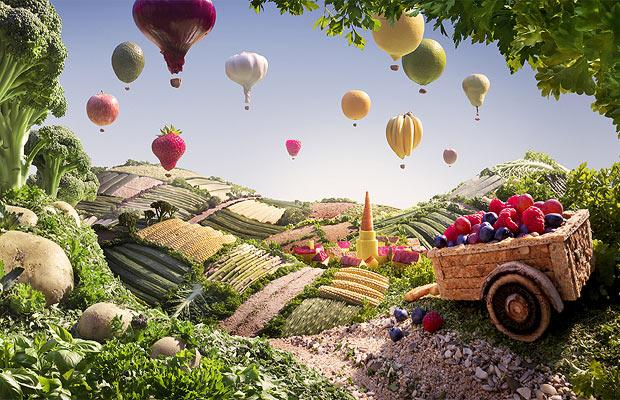 Flying Vegetable baloons