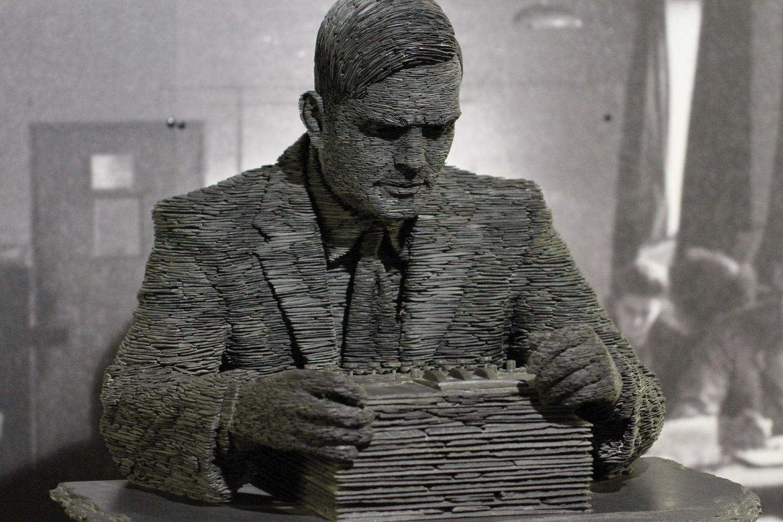 Alan Turing Stone Sculpture