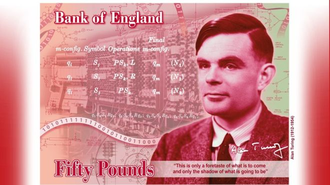 New face of the Bank of Englands 50 note is revealed as Alan Turing