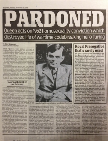 Pardon to Alan Turing