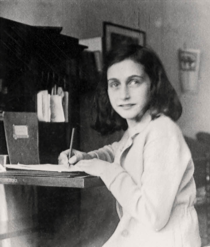Anne Frank Writting Diary