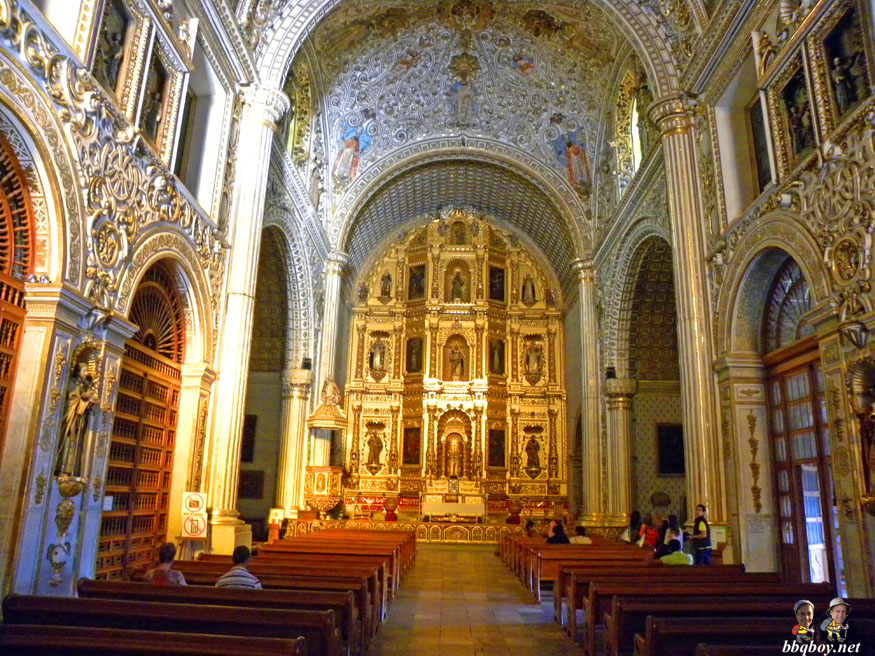 Famous Santo Domingo Church in Oaxaca City Mexico