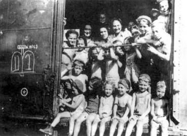 Kastner train passengers from Bergen Belsen to Switzerland 1944