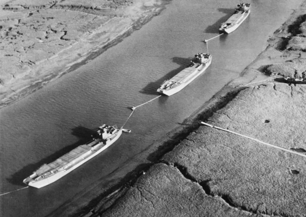 Dummy landing craft used as decoys in south eastern harbours in the period before D Day 1944. H42527 1024x726