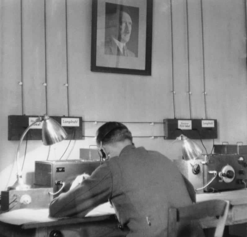 German Intelligence Radio Operator