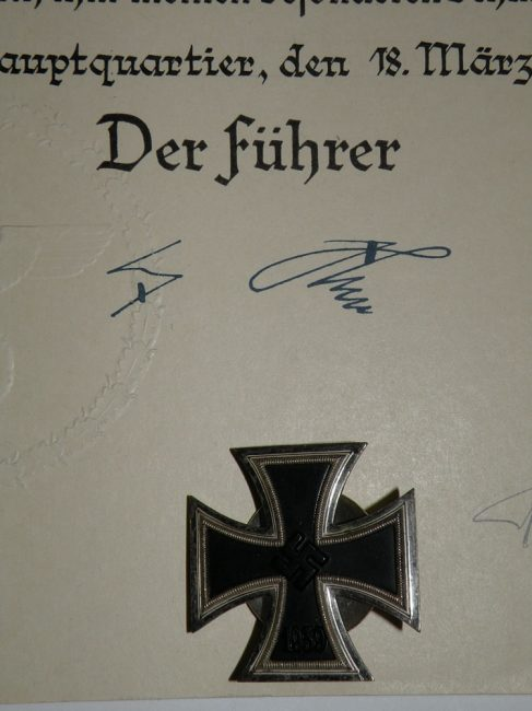 Iron Cross by the Führer