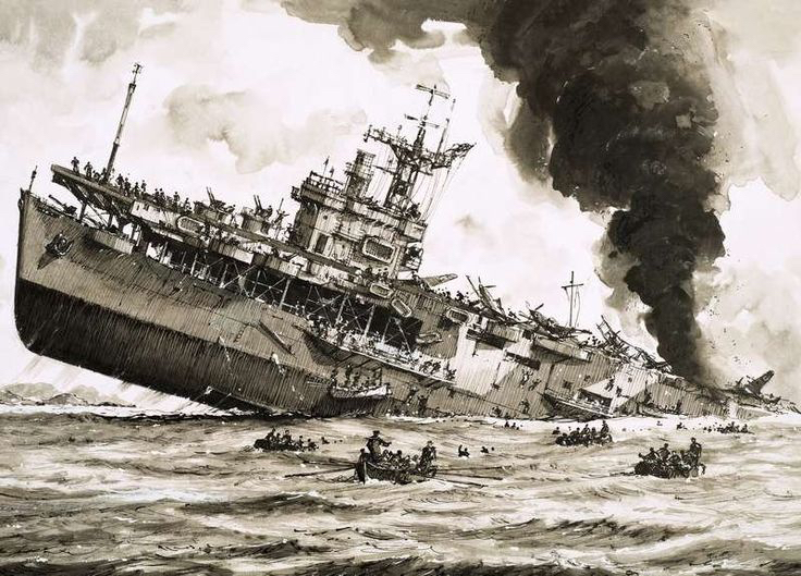 Sinking Ship Operation Torch