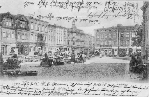 Leszno POland old postcard