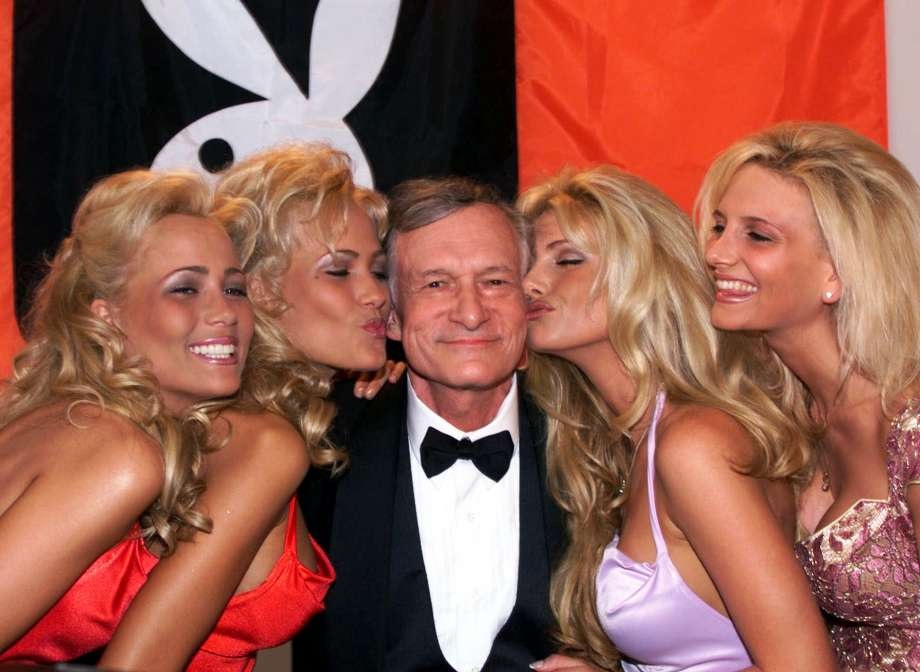 Hefner with 4 bunnies