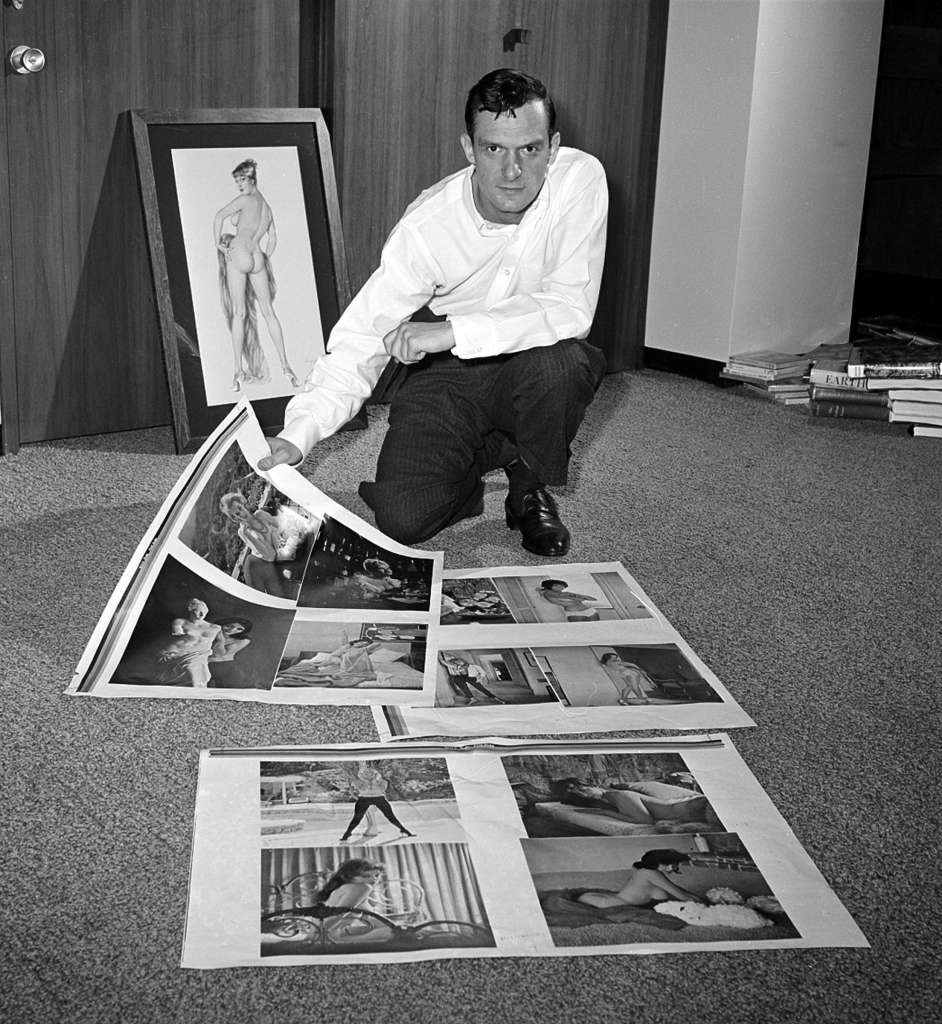 Hugh w magazine in floor