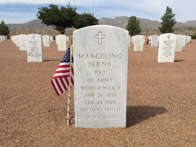 Marcelino Serna mexican wwi hero headstone
