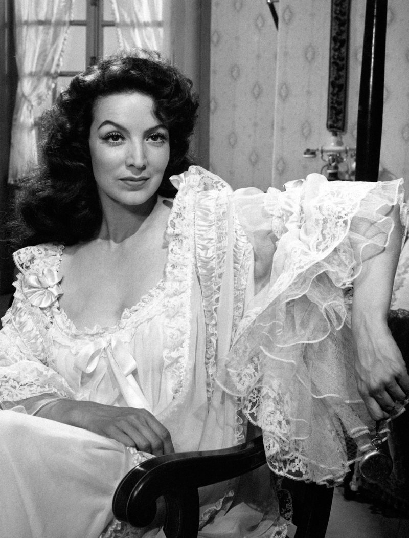 Maria Felix in Nightgown