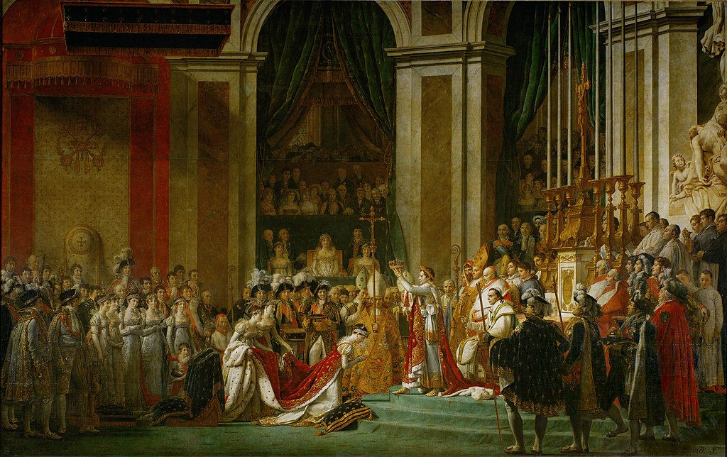 1807 painting The Coronation of Napoleon by Jacques Louis David