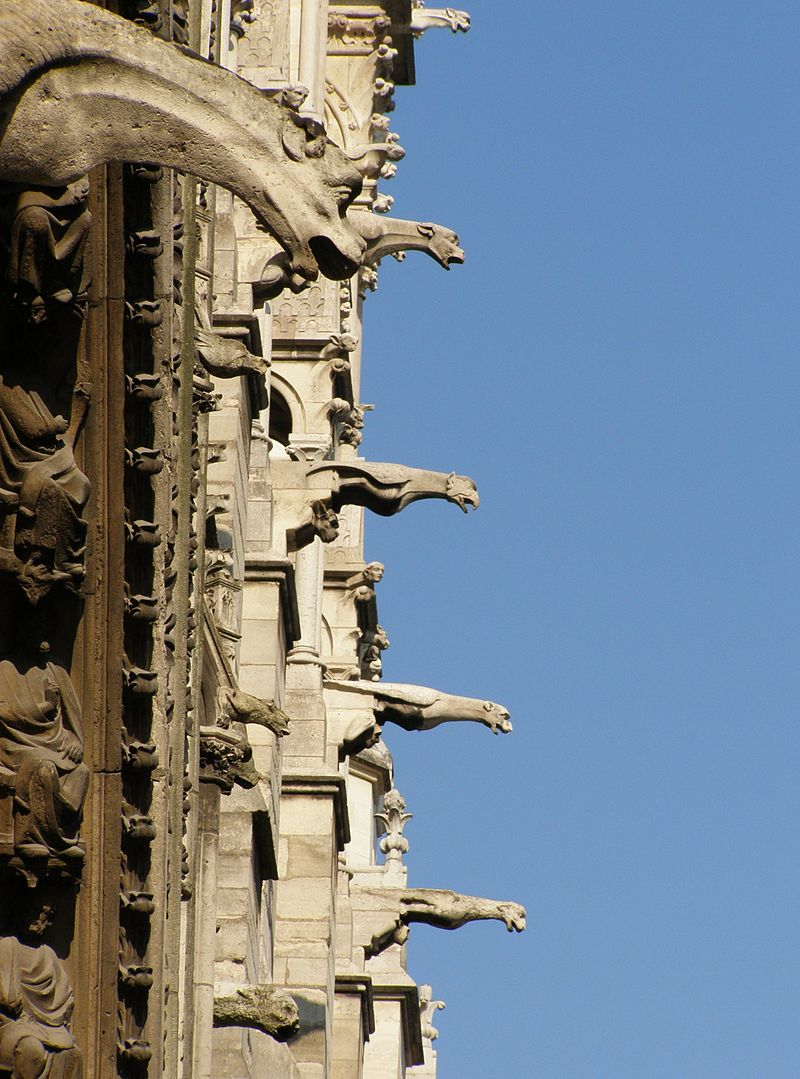 Gargoyles were the rainspouts of the Cathedral