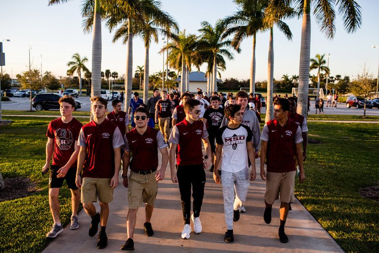 Football Team at Marjory Stoneman Douglas High School