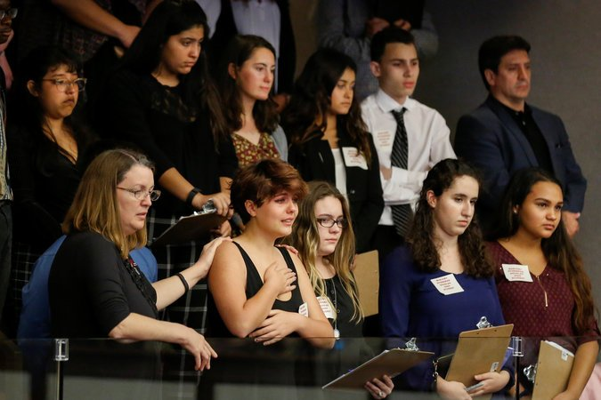 STUDENTS REACT TO FLORIDA VOTE TO BAN ASSAULT WEAPONS