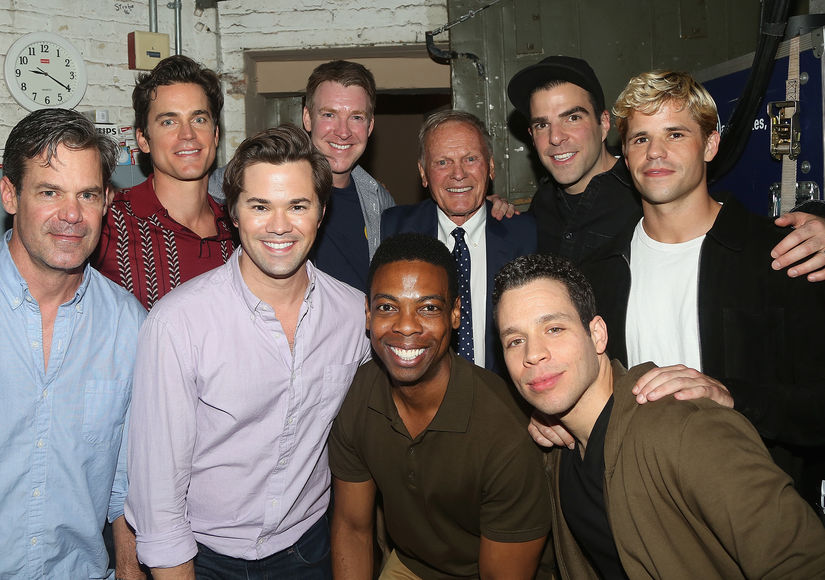 Tab Hunter with Cast of The Boys in teh Band