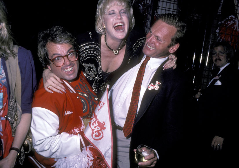Tab Hunter with Producer Allan Carr and Co Star Lorna Luft