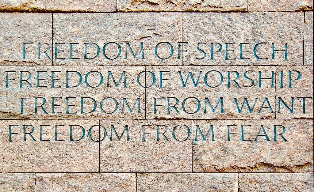 FDR Memorial Wall Four Freedoms